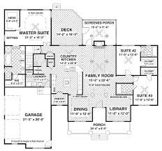 Master Suites Floor Plans Ranch Style House Plan 3 Beds 3 5 Baths 2294 Sq Ft Plan 56 696