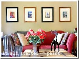 living room red couch living room redo too it all started with paint