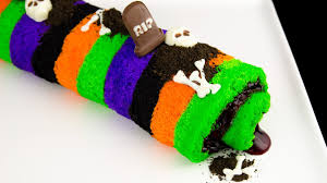 Halloween Cookie Cakes Halloween Cake Roll Recipe How To Make A Halloween Cake Roll From