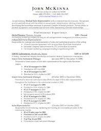 Sample Resume Format Medical Representative by Resume Sample Medical Representative Augustais