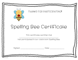 spelling bee award certificates sb10421 sparklebox slp