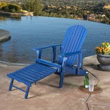 hayle outdoor reclining wood adirondack chair with footrest by