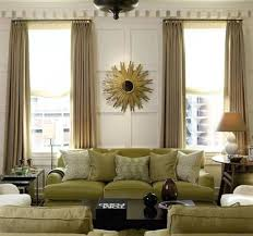 green silk curtain with black wooden coffee table for classic
