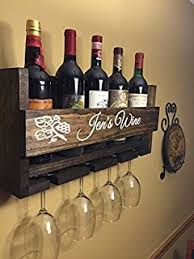 amazon com wall mounted metal wine rack 4 long stem glass holder