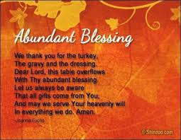 thanksgiving day prayer abundant blessings thanksgiving 2017