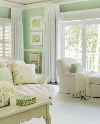 Mint Colored Curtains Contemporary Cottage Bedroom With Gold Starfish Wall Decor