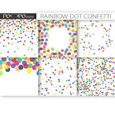 polka dot invitations rainbow digital paper dot scrapbook multicolor baby shower