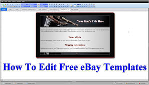 edit html template how to edit html code for free ebay templates step by step part 2