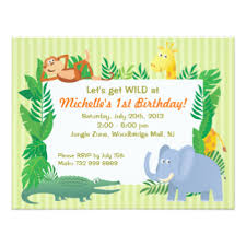 Jungle Birthday Card Jungle Theme Birthday Gifts On Zazzle