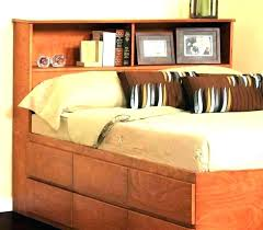 full size bookcase headboard headboard with storage and lights king size bookcase headboard