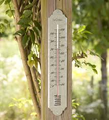 Patio Thermometer by Large Galvanized Metal Thermometer Wind U0026 Weather