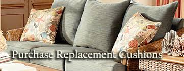 Sofa Cushions Replacement by Replacement Cushions For Palm Harbor 8600 Wicker Furniture By