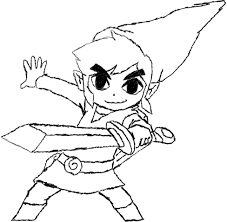 toon link coloring pages fablesfromthefriends com