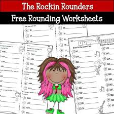 free rounding worksheets 4th grade best 25 rounding worksheets ideas on rounding math