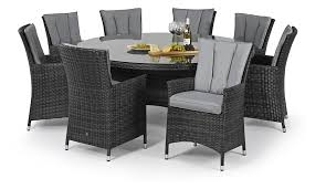 Round Dining Sets For 8 Garden Furniture 8 Seater Round Table Richmond 8 Seater Oval
