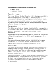 Football Coach Resume Example by Sports Coach Resume Free Resume Example And Writing Download