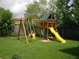 How To Build A Wooden Playset Triton Diy Wood Fort Swingset Plans Jack U0027s Backyard
