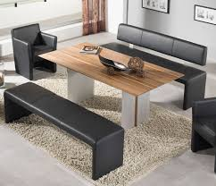 Black Dining Room Set With Bench Curved Dining Bench Free Bench For Kitchen Table Image Of Corner