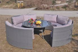 Grey Rattan Outdoor Furniture by Grey 10 Seater Cube Rattan Dining Set And Parasol Cover