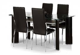 Elegant Dining Table Set With  Chairs Endearing Kitchen Table Set - Black dining room sets