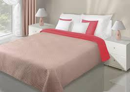 Schlafzimmerm El Rot Eurofirany Filip Samt Qualität Bicolor Tagesdecke Wendedecke