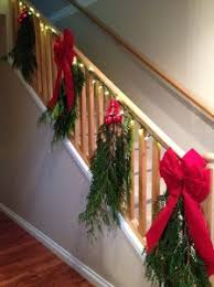 Banister Decorations For Christmas Take A Bough Decorating With Cones And Evergreens Mom Prepares