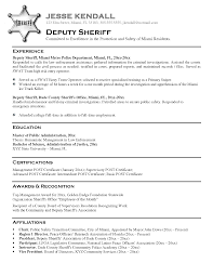 Police Academy Resume Law Enforcement Resume Templates