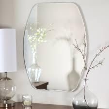 décor wonderland frameless freddie wall mirror 23 5w x 32 5h in