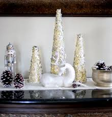 diy glitter and gold tree decor pinkwhen
