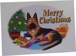 german shepherd dog christmas cards 10 cards amazon co uk