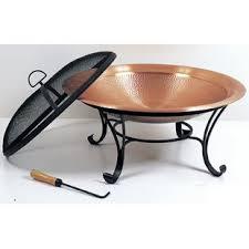 Copper Firepit Hammered Copper Pit Wayfair