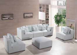 Modern White Leather Sectional Sofa by Divani Casa 206 Modern White Bonded Leather Sectional Sofa