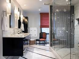 Black And White Modern Curtains Bathroom Delectable White And Grey Bathroom Decoration Using