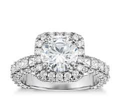 cushion halo engagement rings vaughan for blue nile grandeur cushion halo