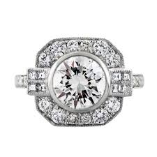 Art Deco Style Platinum Art Deco Style 2 34 Carat Diamond Engagement Ring Boca Raton