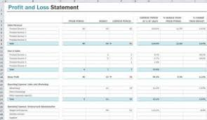Profit And Loss Template Excel Free Profit And Loss Statement Template Profit And Loss Statement Excel