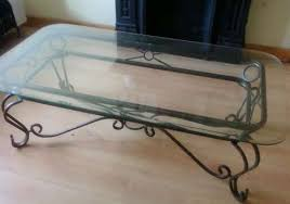 low glass top coffee table coffee tables decor wrought iron and glass table flat throughout