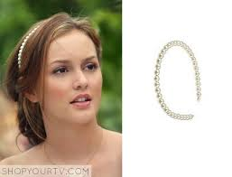 blair waldorf headbands gossip girl season 2 episode 2 blair s white pearl headband