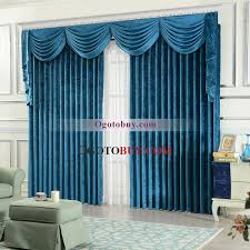 Window Curtains Clearance Modern Solid Blue Chenille Thermal Curtains Clearance Buy Blue