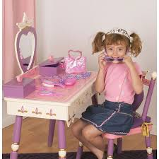 Kid Vanity Table And Chair Princess Vanity Table U0026 Chair Set By Levels Of Discovery