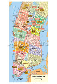 downtown manhattan map michelin official lower manhattan nyc map print poster prints