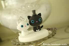 bride and groom kitty and cat wedding cake topper www etsy u2026 flickr