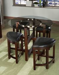 impressive modern dining set style offer clean glass round counter
