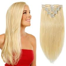 Blonde Weft Hair Extensions by Pcs Double Weft Straight Clip In Remy Hair Extensions 24 Ash Blonde