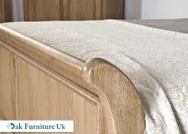 White Single Sleigh Bed American White Oak 6 U0027 Super King Bed Oak Furniture Uk