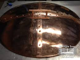 Custom Fire Pit Covers by Handmade Copper Fire Pit Cover 136 Wine Country Custom Iron Works