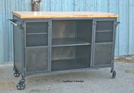 buy a custom made vintage industrial bar cart kitchen island