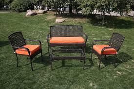 Patio Furniture Conversation Sets - kontiki conversation sets metal sofa sets viona 4 piece