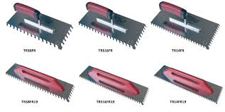 slanted notched trowels
