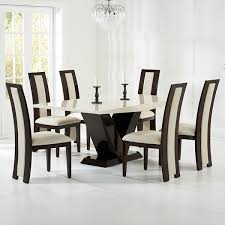 vienna cream and brown marble dining set with chairs robson furniture